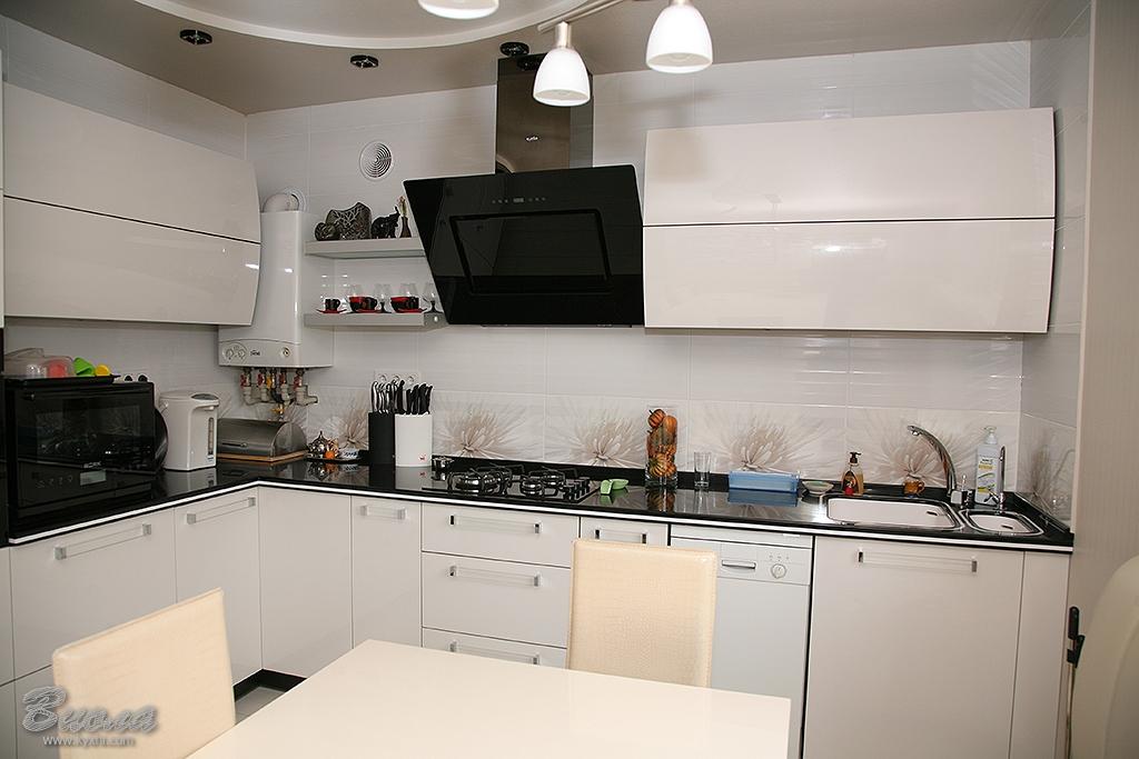 кухня из крашенного мдф фото