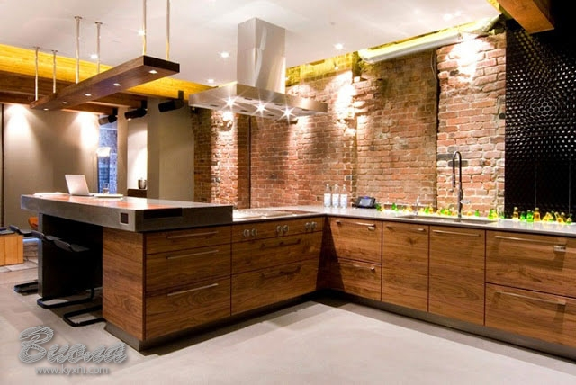 кухни с деревянными фасадами фото