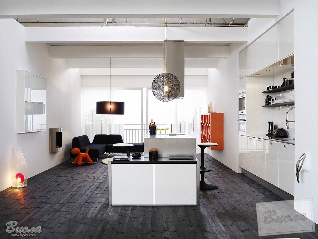 белая кухня в современном стиле лофт фото цена дизайн