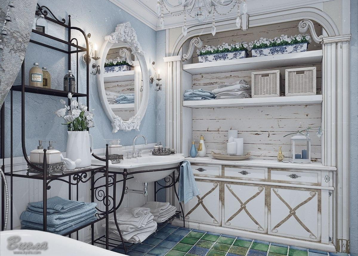 дизайн ванной комнаты совместно
