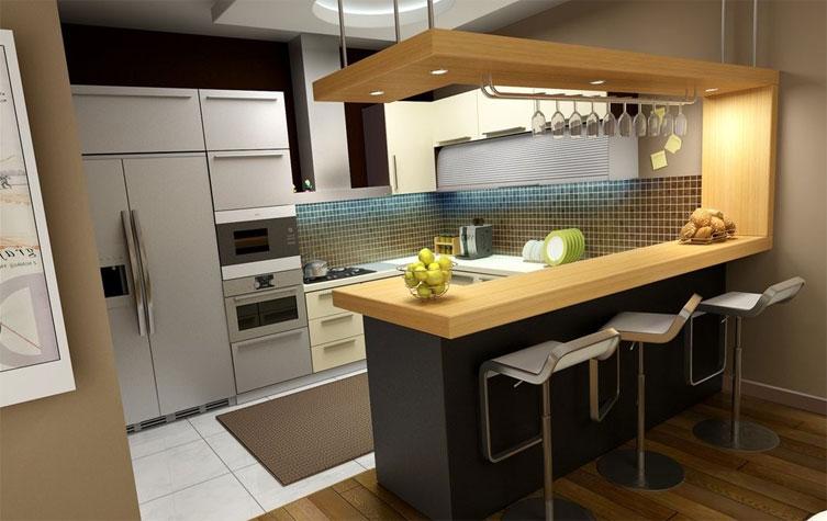 Дизайн барной стойки для малогабаритных кухонь