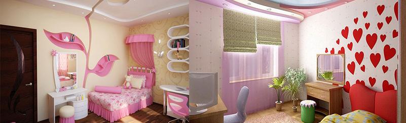 Оформление детской комнаты для девочек