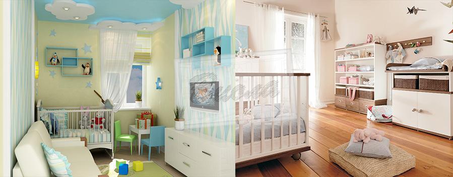 Оформление детской комнатки